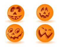 Vector Pumpkin By A Holiday Halloween Royalty Free Stock Photo