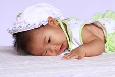 Asia Baby Will Sleep Stock Images