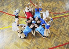 Free Girls Playing Volleyball Indoor Game Stock Photography - 15532212