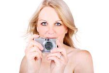 Free Woman Taking Photo Royalty Free Stock Photos - 15532258