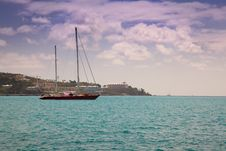 Free Sailboat In The Caribbean Sea Stock Photo - 15534600