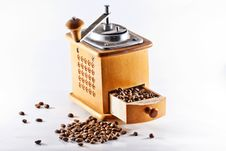 Free Antique Wooden Coffee Mill Stock Photo - 15534940