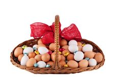 Easter Farm Eggs Royalty Free Stock Photos