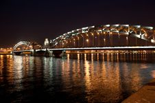 Free Okhtinsky Bridge Royalty Free Stock Photography - 15534997