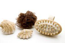 Free Massage Brush And Sponge Stock Images - 15535004