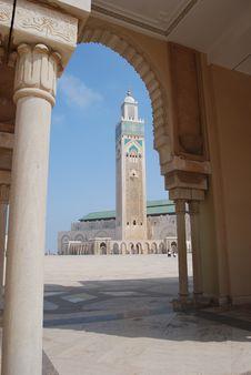 Minaret Through Arch Royalty Free Stock Photography