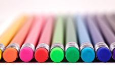 Free A Row Of Colourful Erasers Royalty Free Stock Photography - 15535497