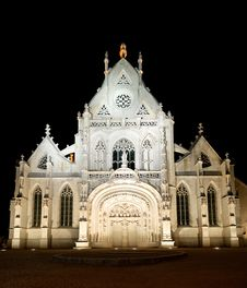 Brou Church At Night Stock Photos