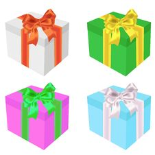 Free Celebratory Boxes With Bows Stock Image - 15535631