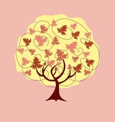 Free Abstract Autumn Tree Stock Photography - 15536252