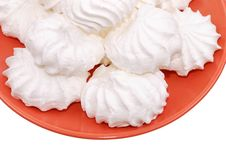Free Plate With A White Zephyr Royalty Free Stock Images - 15536709