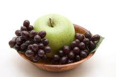 Free Grapes And Apple Royalty Free Stock Photo - 15537125