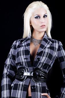 Beautiful Blond Young Women Stock Photo
