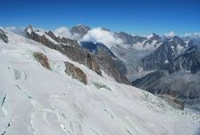 View From Aiguille Du Midi Royalty Free Stock Photo