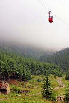 Free Cable Car At High Altitude Royalty Free Stock Photography - 15537957