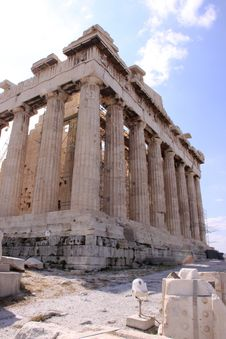 Free The Parthenon At The Acropolis Of Athens Royalty Free Stock Photography - 15538657