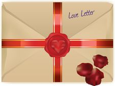 Wax Sealed Love Letter Royalty Free Stock Photography