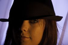 Free Top Hat Girl Stock Image - 15539161
