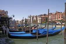 Free Venice, Church Of Venice, Gondolas On Grand Canal Royalty Free Stock Photography - 15539227