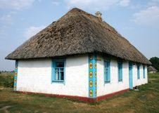 Ukrainian Traditional Rural House Royalty Free Stock Image