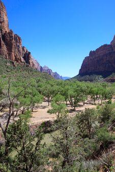 Zion Landscape Royalty Free Stock Photo