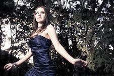 Free Fashion Photo Of Beautiful Woman Walking In Woods Stock Image - 15539891