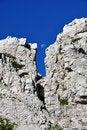 Free Moon Between Rocks Stock Image - 15548301