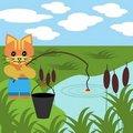 Free Nice Fishing Cat Royalty Free Stock Image - 15548446