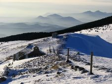Mont Ventoux In Winter Royalty Free Stock Images