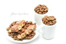 Free Cups With Coffee And Chocolate Royalty Free Stock Photos - 15540768