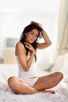 Free Woman On Bed Stock Photos - 15540903