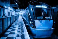 Free Passenger Train Inside The Station, Monochromatic Stock Photos - 15541203