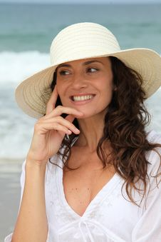 Free Beautiful Woman Wearing Hat Royalty Free Stock Photo - 15541255