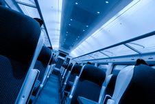 Free Railway Coach Interior, Monochromatic Royalty Free Stock Photo - 15541345