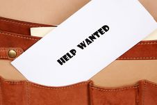 Free Help Wanted Sign Royalty Free Stock Photo - 15541505