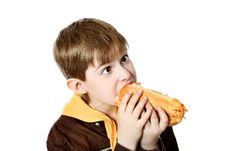 Free Hungry Boy Stock Images - 15541524