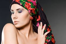 Free Woman With Black Headwear Stock Photography - 15541952