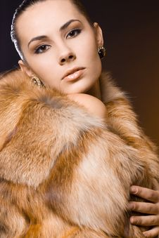 Free Woman In A Fur Coat Royalty Free Stock Photography - 15542007