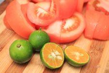 Tomato And Lemon Royalty Free Stock Image