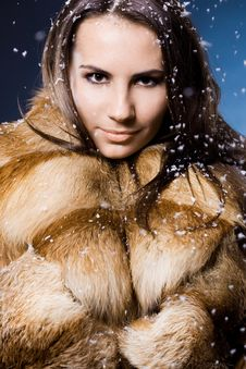 Free Woman In A Fur Coat Royalty Free Stock Photo - 15542095