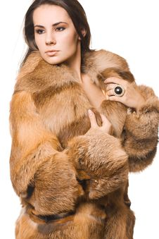Free Woman In A Fur Coat Royalty Free Stock Images - 15542129