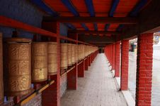 Free Tibetan Prayer Wheels Stock Image - 15544161