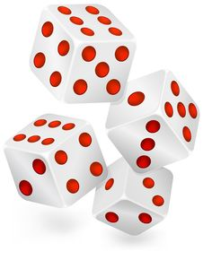 Free Four Dices For Dribbling Stock Image - 15544751