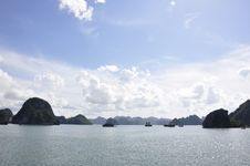 Halong Bay Sea View Royalty Free Stock Photo