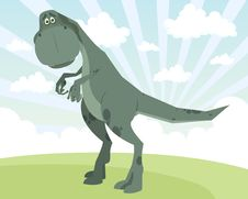 Free Dinosaur On A Lawn Stock Photography - 15545402