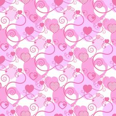 Free Excellent Background With Hearts Royalty Free Stock Images - 15545529