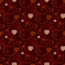 Free Excellent Red Background With Hearts Stock Image - 15545581