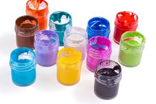 Free Watercolour Pain In Jars Spilled Stock Photos - 15548613