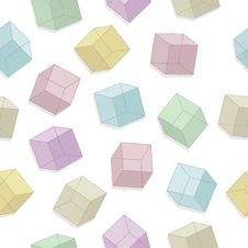 Free Cubes Seamless Pattern Stock Photos - 15548673