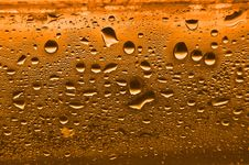 Free Orange Condensation Water Drops Royalty Free Stock Image - 15548776